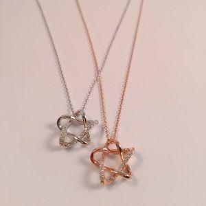 Jewelry - 925 Sterling Silver CZ Star Necklace